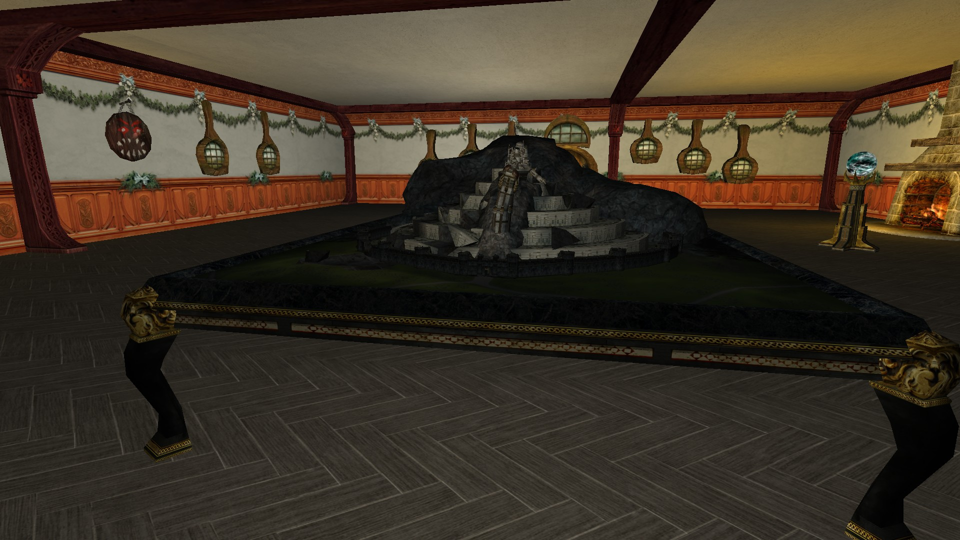 Destroyed Model Of Minas Tirith Lotro Housing By Dco Du Milieu